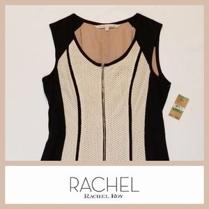 Rachel Roy Memory Motel Antique White Black Dress